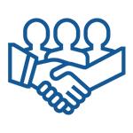 Image of community partnership icon.